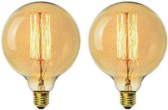 Edison G125 Vintage Globe 40W kooldraadlamp dimbaar antiek goud E27 ultrawarm wit 2200K