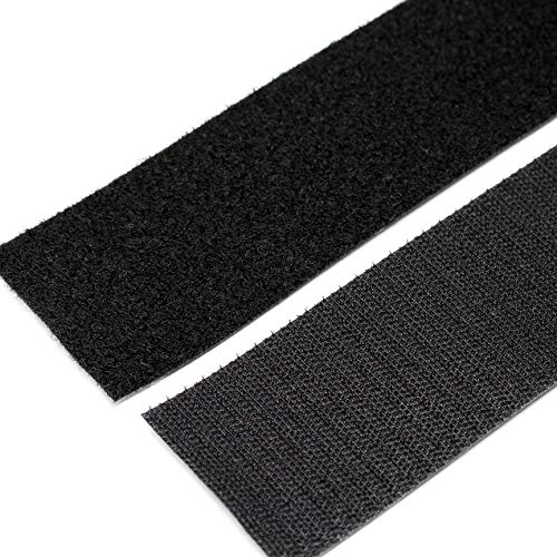 Strenco 2 Inch Self Adhesive Hook and Loop - 5 feet - Black Sticky Back Tape – Fastener