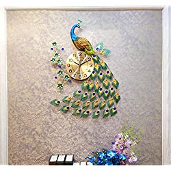 Fantasysmoke Silver Sparkle Glitter Mirrored Wall Clock Roman Number Glass Wall Clock New