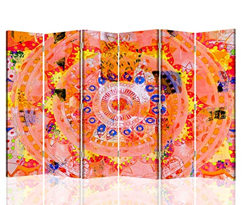 F FEEBY WALL DECOR Foto Biombo Mandala 6 Paneles Unilateral Zen SPA Ro