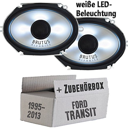 Hifonics BX682i - 6x8 LED - Lautsprecher Boxen - Einbauset für Ford Transit Front Heck - JUST SOUND best choice for caraudio