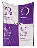 """Boss Gifts from Employees, Boss Lady Gifts, Bed Flannel Fleece Plush Throw Blankets (50""""x 65"""") Office Gift idea for Women in Boss Day, Birthday, Christmas, Appreciation, Retirement, Definition-Purple"""