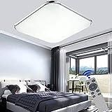 BFYLIN 48W Ultraslim LED Lámpara Regulable Moderna Del Techo Lámpara De Techo Pasillo Salón Dormitorio De La Lámpara Ahorro De Cocina 50HZ Luz 85V-265V (48W Regulable LED)