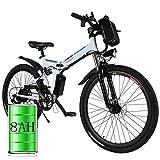 Bicicleta eléctrica de montaña, 250W, Batería 36V E-Bike Sistema de Transmisión de 21...
