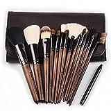 QIANGYI 15 Pinceles De Maquillaje De Bambú Professional Maquillaje Cepillo Conjunto Vegano Y Crueldad Fundación Libre Mezcla Blush Polvo Cepillos Cosméticos(Color: Bamboo Brush Set)