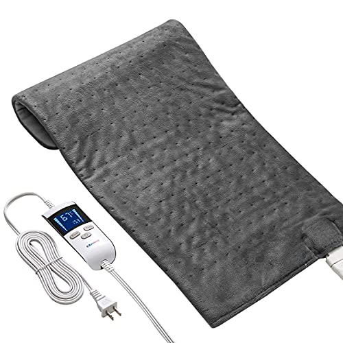 LCD Digital Controller Extra Large Heating Pads with Auto Shut Off for Back Pain Shoulders Pain and...