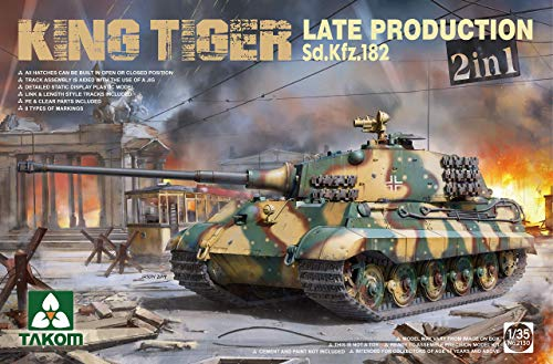 TAKOM TAK2130 2130 1/35 Sd.Kfz.182 King Tiger Late Production 2 in 1