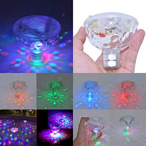 Unterwasser Licht, Multi wasserdichte LED Leuchten 5 Beleuchtungsmodi Lampe für Schwimmbad