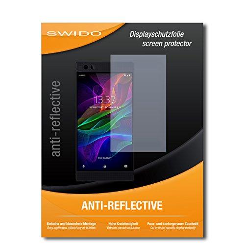 SWIDO Schutzfolie für Razer Phone [2 Stück] Anti-Reflex MATT Entspiegelnd, Hoher Festigkeitgrad, Schutz vor Kratzer/Bildschirmschutz, Bildschirmschutzfolie, Panzerglas-Folie