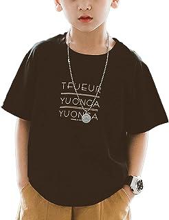 [ウェアビー]Tシャツ ロゴ プリント コットン 半袖シャツ カジュアル キッズ ボーイズ ガールズ 120~160