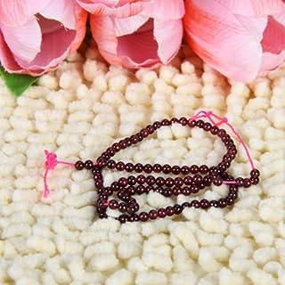 IPOTCH Cuentas Redondas De Piedras Preciosas Redondas De Granate 3 Mm / 14 Pulgadas
