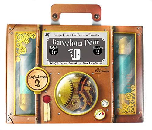 PackEscape Regalo Experiencia Escape Room en Vivo. Un Regalo Original, Diferente y Divertido. Una Experiencia inolvidable. Personaliza tu Regalo Escogiendo Ciudad (Barcelona Ciudad)