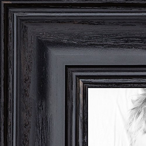 ArtToFrames 12x36 inch Black Stain on Solid Red Oak Wood Picture Frame, 2WOM0066-59504-YBLK-12x36