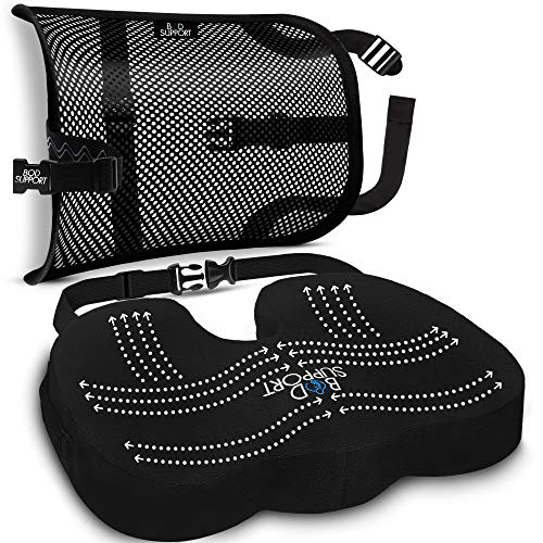Back Support Seat Cushion Set