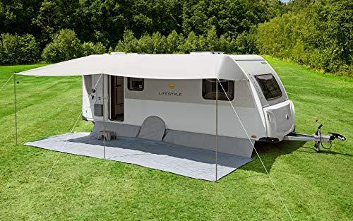 Berger Sonnenvordach Vario 500x240cm Vordach Sonnenschutz Wohnwagen Sonnendach Dach Sonnensegel grau