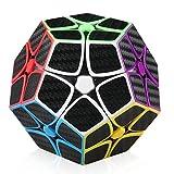 EasyGame-Megaminx Cube, fibra de carbono 2X2 Megaminx Magic Dodecaedro Speed Cubing Puzzle