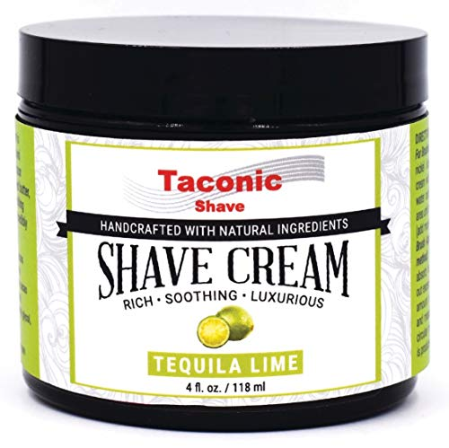 Taconic Shave Lime Shaving Cream, Creates a Rich and Luxurious Lather - 4 oz. - Made in The USA