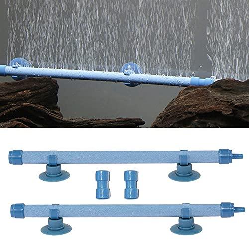Bulles d'Air Aération Tube 2 Pièces Aquarium Mur Diffuseur d'Air Tube à Bulles Pour Aquarium Diffuseur De Pompe à Oxygène Accessoire Avec Ventouse Pour Pompe à Oxygène d'Aquarium Bleu 10 Pouces