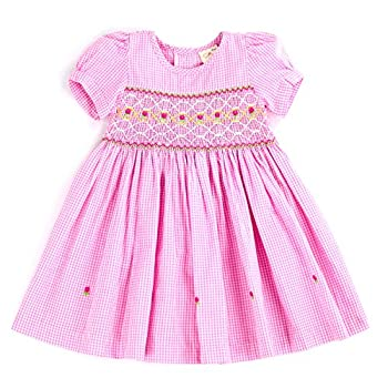 THE SILLY SISSY-Infant and Toddlers  9-12M - 4T  Hand Smocked Dress   Remy Redmond s Plaid  Pink Gingham 18-24M