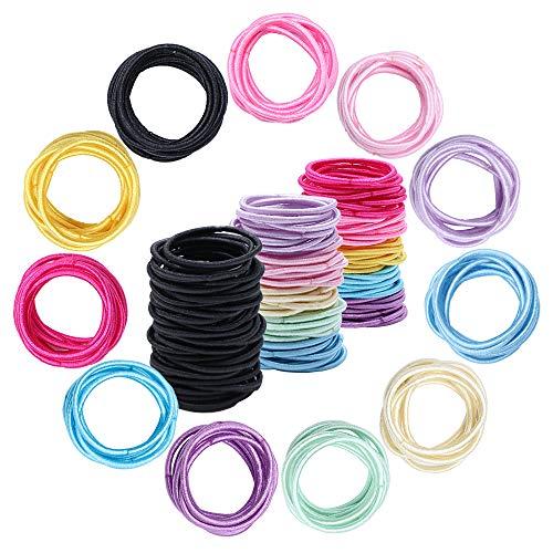 300 Stück Baby-kleine Haar-Krawatten, Mehrfarben- Elastics Haar-Bänder für Kinder Mädchen Säuglinge Kleinpferdeschwanz -Halter