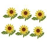 Bonarty 6 / Set Stoff Filz Gelbe Sonnenblumen Mit Grünen