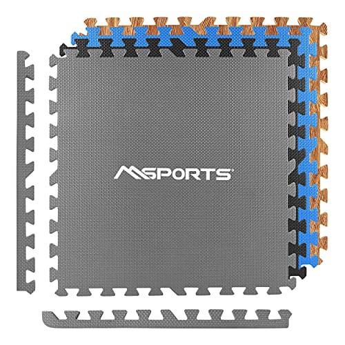 MSPORTS Bodenschutzmatten Set Premium - 8 Schutzmatten 3,175m²   Bodenschutz 60x60 cm   Stärke: 1,2 cm   Puzzlematten Gymnastikmatte (Grau)
