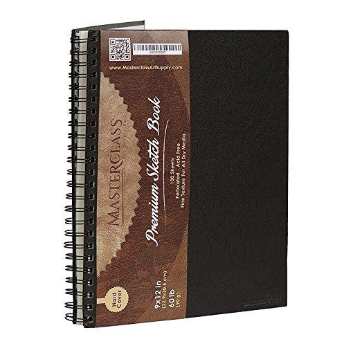 Masterclass Premium 9 Inch by 12 Inch Spiral Bound Hardcover Sketchbook