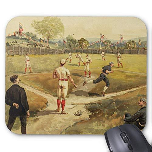 Accesorios de ordenador anti-fricción pulsera Old Time Vintage Baseball Game en 1887 Mouse Pad 18X22