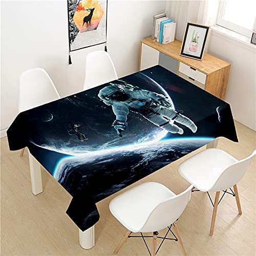 XXDD Space tablecloth table cover picnic table rectangular light luxury table cover washable household table decoration tablecloth A1 135X160CM