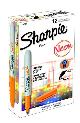 Sharpie Fine Tip Marcador permanente - Neon Orange (paquete de 12)