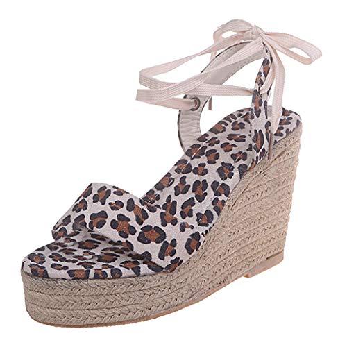 PAOLIAN Sandalias Mujer Plataforma Cuña Verano 2020 Zapatos Mujer Tacon Altas Elegantes...