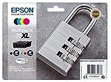 Epson DURABrite Ultra Ink, Cartucho de Tinta para Impresoras, 35XL, Multicolor (Negro, Cian, Magenta, Amarillo), Ya disponible en Amazon Dash Replenishment