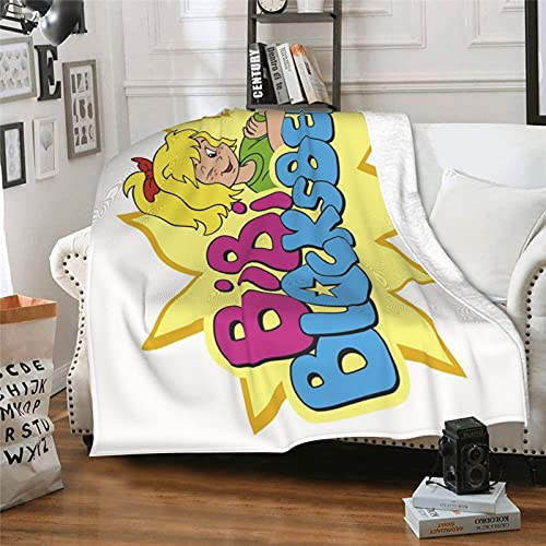 Marita Tv Show Gift Cartoon Character Temporada 3 Bibi Blocksberg Manta de aire acondicionado Manta de forro polar mullida toalla de verano para sofá de 203 x 152 cm