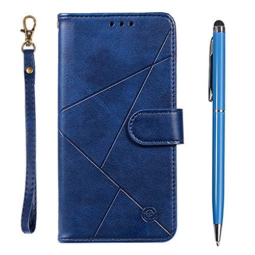 TOUCASA für Galaxy A80 Hülle,Handyhülle für Galaxy A90,Brieftasche PU Leder Flip [Prismatisch] Embossing Case Magnetverschluss Handytasche Klapphülle für Samsung Galaxy A80 / A90(Blau)