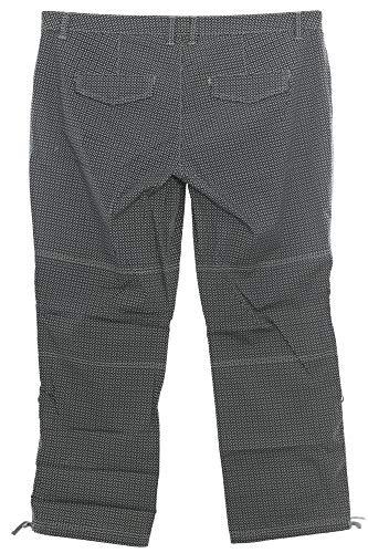 Sheego Cargohose Cargo Hose Stoffhose Pants Damen Stretch Plusgröße, Farbe:schwarz, Damengrößen:54
