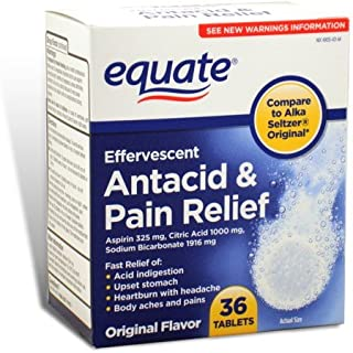 Equate - Effervescent Antacid Pain Relief, 36 Tablets