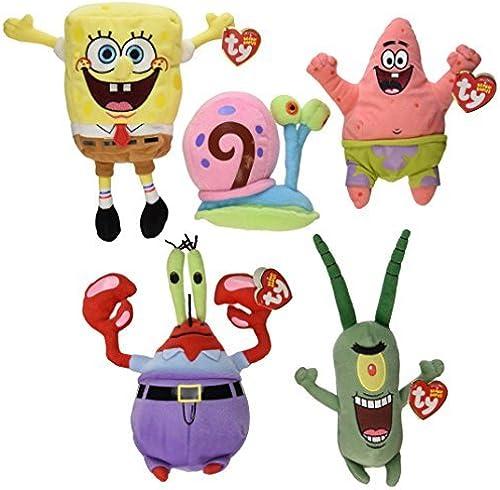 TY Beanie Babies - SPONGEBOB SQUAREPANTS Beanies ( Set of 5 ) (Spongebob, Pat... by Ty