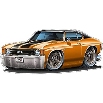 1970-1972 Chevelle SS coupe car outline sticker decal wall graphic