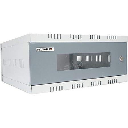 Crotomak 2U WiFi CCTV DVR Rack/NVR/Server/Network Rack with 3 Power Socket Plug Transparent Glass Door Metal Cabinet Box(Size 2: 40cm X 40cm X 15cm)