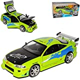 Mitsubishi Eclipse Grün Brian´s Paul Walker The Fast and The Furious 1/24 Jada Modell Auto