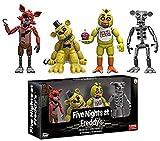 Qwead Five Nights At Freddy'S Action Figure Foxy Gold Freddy Chica Endoskeleton Freddy Figuras Juguetes para Niños Colección Regalo 5Cm