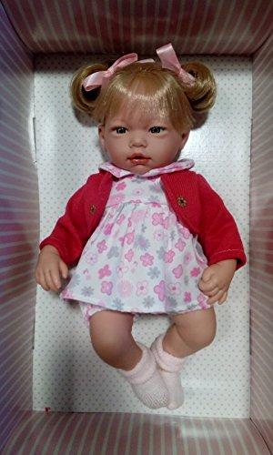 Muñeca Alba Vestido rosa y chaqueta 38 cm - Muñecas Guca Alba Vestido Rosa y Chaqueta 38 cm - Muñecas Guca-582, Multicolor (582)