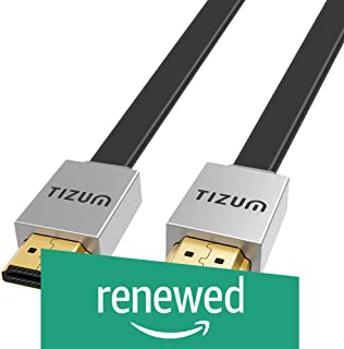 "(Renewed) TIZUM Fusion TZ-FUSN HDMI Cable ""Fusion""- HDMI 2.0 -Gold Plated-High Speed Data 18Gbps, 3D, 4K, HD 2160p (2M / 6.6 Ft)"
