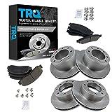 TRQ Front & Rear Premium Posi Ceramic Disc Brake Pad & Rotor Kit for Ford Pickup...