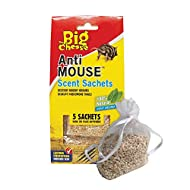 The Big Cheese Anti Rodent Sachets (Deters Rats and Mice, Poison-Free, 30 Days Protection) - Pack of 5