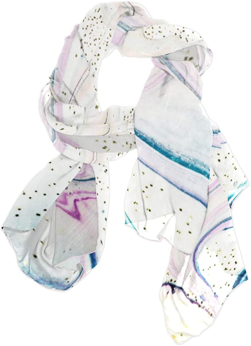 Iridescent Artwork Beautiful Unique Fashion Scarf For Women Lightweight Fashion Fall Winter Print Scarves Shawl Wraps Gifts For Early Spring