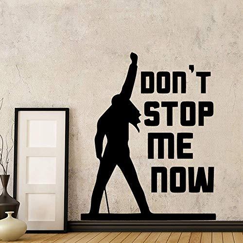 Klassische Freddie Mercury Queen Band Musik Stoppen Mich Nicht Jetzt Zitat Wandaufkleber Für Wohnzimmer Schlafzimmer Dekor Wandtattoo Wandbild 43X53 Cm