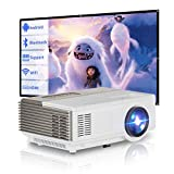 Portable Movie Projector with WiFi Bluetooth Wireless Screen Mirror Mini Outdoor Video Projector Full HD 1080P Support Home Theater Built-in Speaker for Smartphone TV Stick Laptop DVD PS4 Wii HDMI USB -  WIKISH