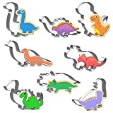 Joyoldelf Dinosaur Cookie Cutters Set, 8pcs Dinosaur Sandwich Cutters, Dinosaur Biscuit Cutters for DIY Baking, T-Rex, Triceratops, Stegosaurus, Brachiosaurus and More
