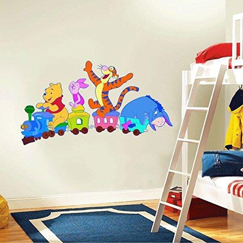 Winnie The Pooh Company Train Cartoon Home Decor Art Wall Vinyl Sticker 63 x 35 cm